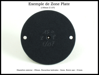 Zone Plate Dimension
